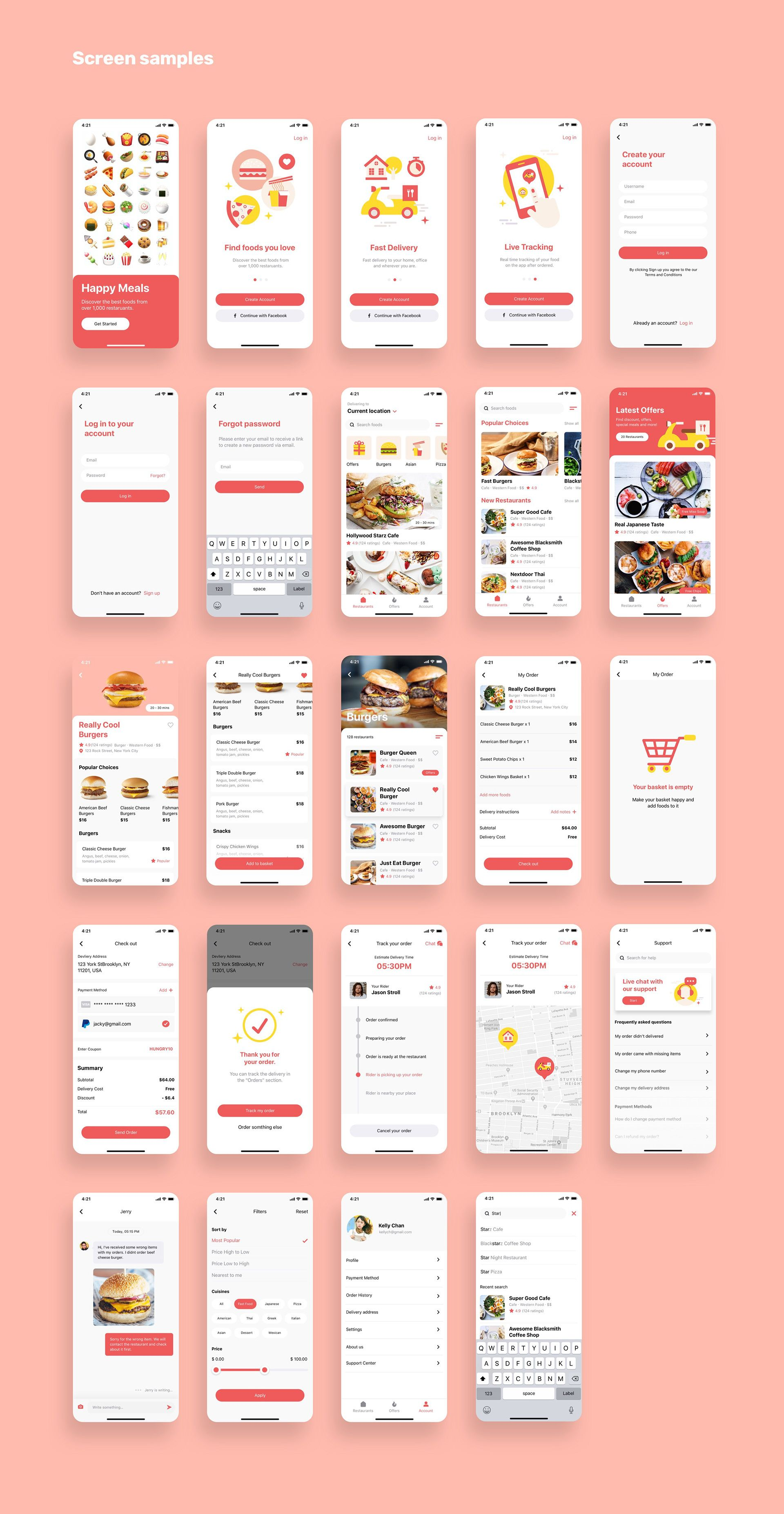 Happy Meals Food Delivery App Ui Kit Happy Meals Food Delivery App UI Kit Recipes food delivery apps