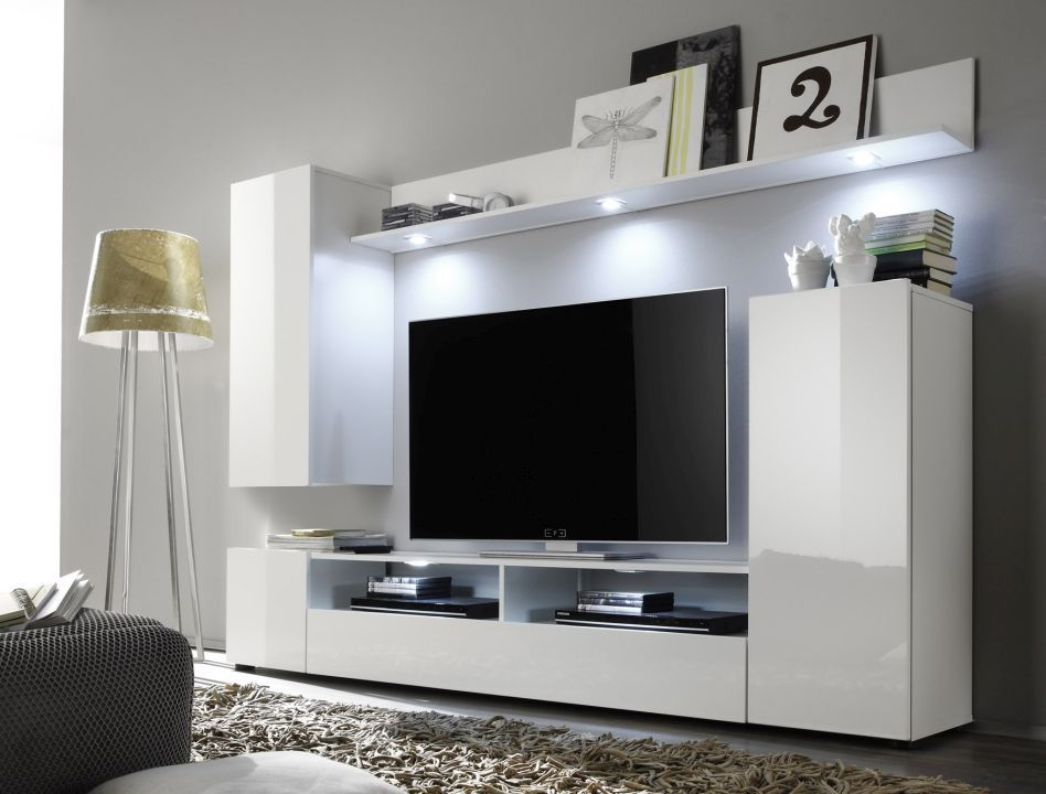 anbauwand dos ca 208x165x34 cm wohnzimmer anbauwand home living m bel http www. Black Bedroom Furniture Sets. Home Design Ideas