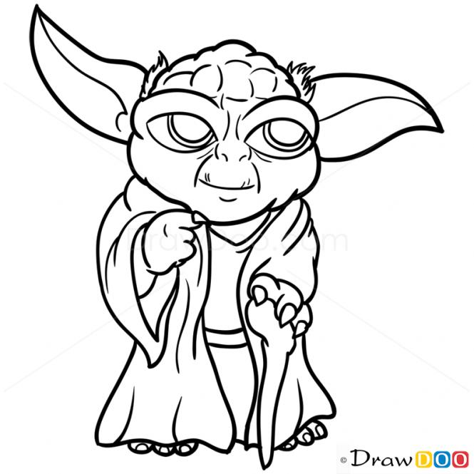 How To Draw Yoda Chibi Star Wars Artdrawingsbeautiful Star Wars Malerei Tiere Malen Kinder Zeichnen