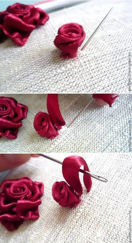 how to make a rose out of silk ribbon