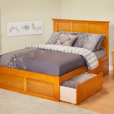 Atlantic Furniture Urban Lifestyle Madison Bed with Bed Drawers Set ...