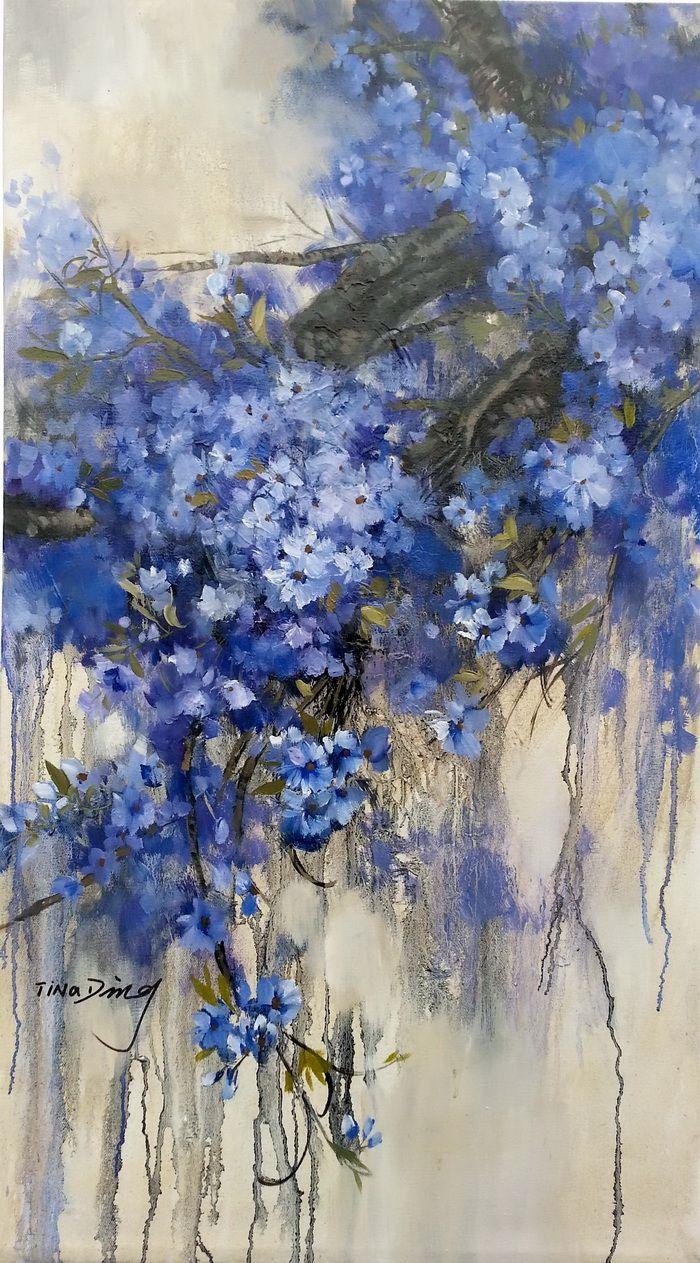 This blue flower tree tinadart abstract art pinterest flower this blue flower tree tinadart izmirmasajfo