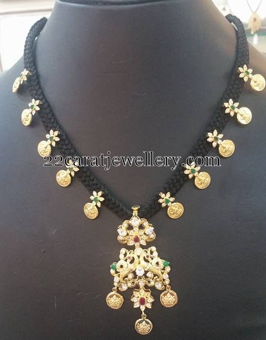 Black cord sets with gold pendants gold pendant cord and pendants black cord sets with gold pendants aloadofball Image collections
