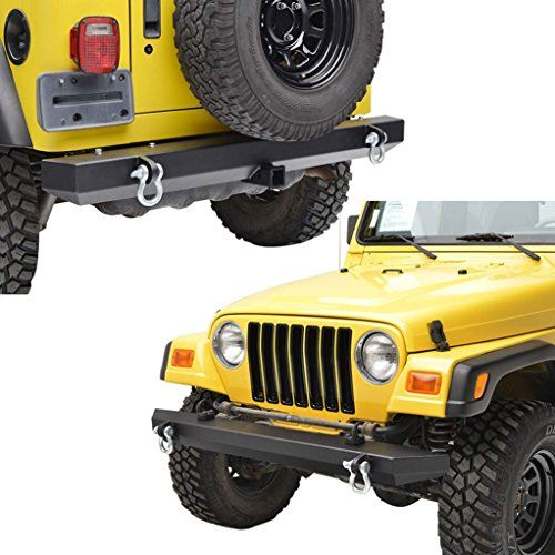 E Autogrilles 87 06 Jeep Wrangler Tj Yj Off Road Front Bumper And