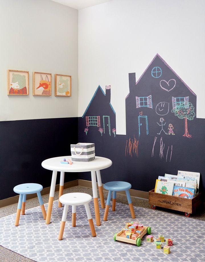 Pared con pintura pizarra | muebles, pinturas tdo deco | Pinterest ...
