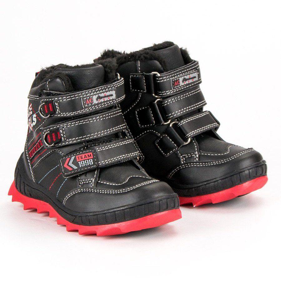 Kozaki Dla Dzieci Americanclub American Club Czarne Ocieplane Buty American Boots Hiking Boots Shoes