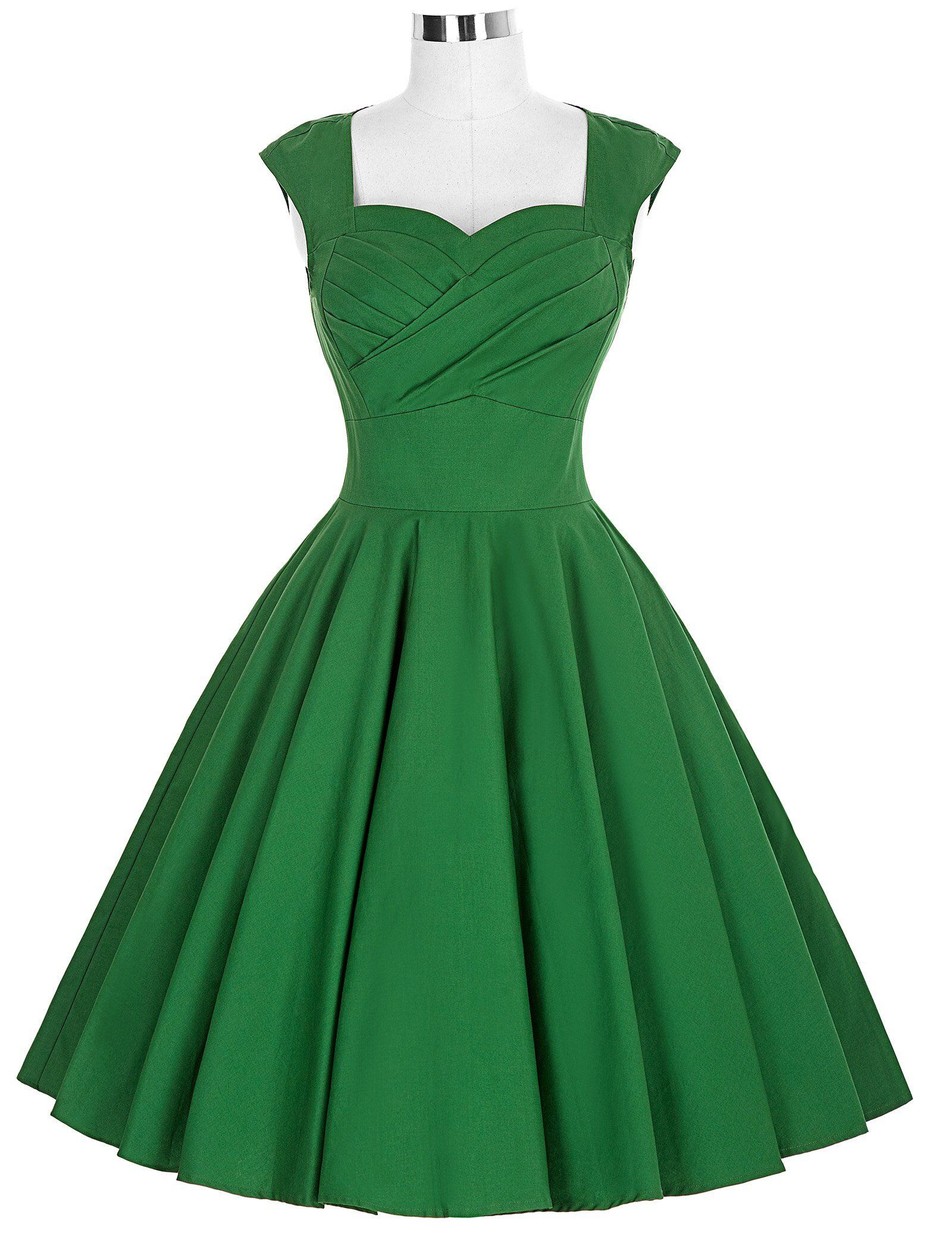 Women S Retro 1950s 60s Evening Party Casual Vintage Flared Wiggle Swing Dresses Solid Color Ruched Dress Women Vestido Boho Dresses Long White Maxi Dress Boho Vintage Dress 60s [ 2072 x 1600 Pixel ]
