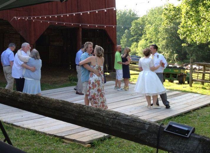 Barn wedding dance floor..#pineditor #summer Backyard ...