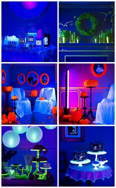Diy Home Projects Glow In Dark Party Glow Party Blacklight Party