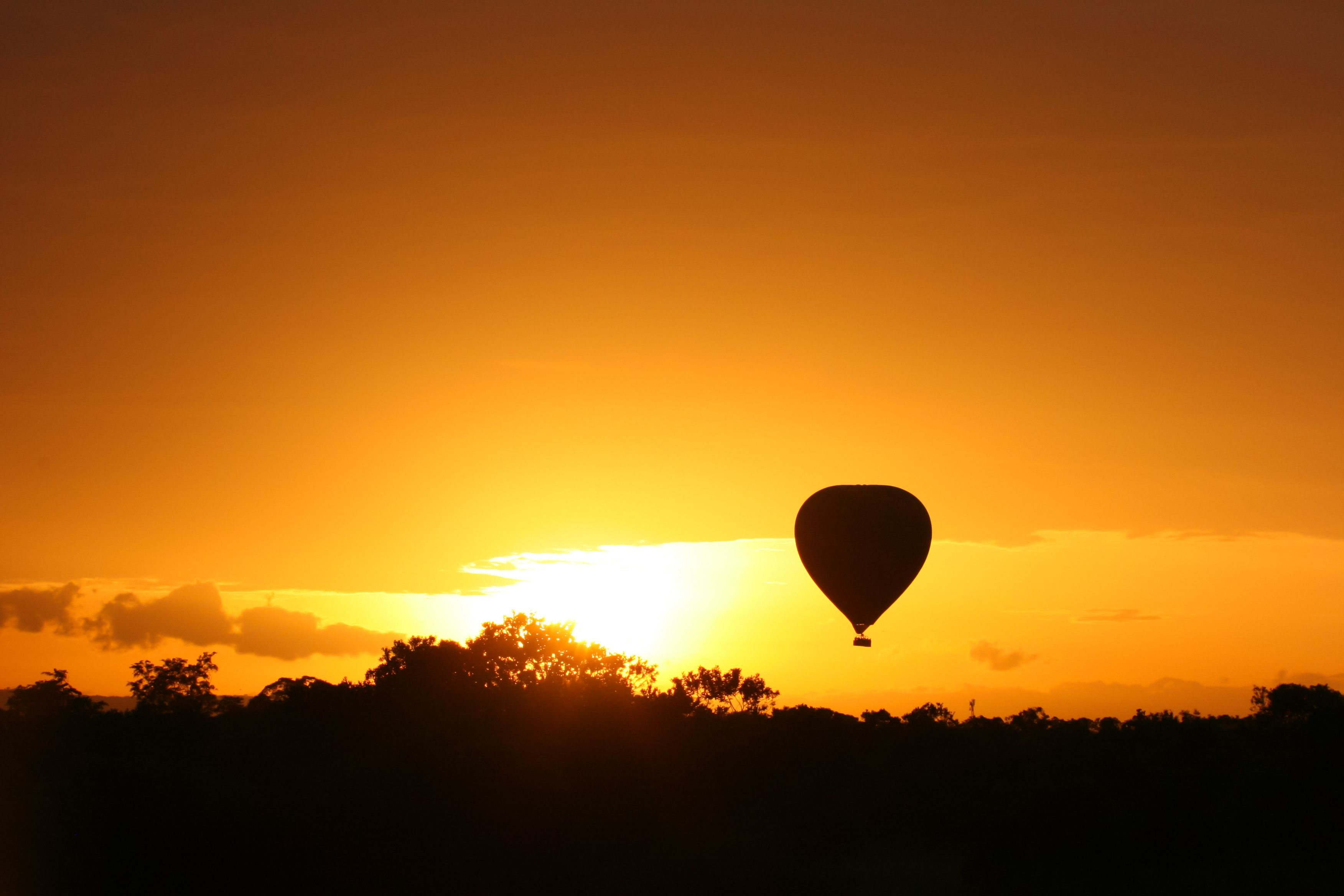 Imagine an African sunset hot air balloon ride. This could be you!  www.FairTradeSafaris.com