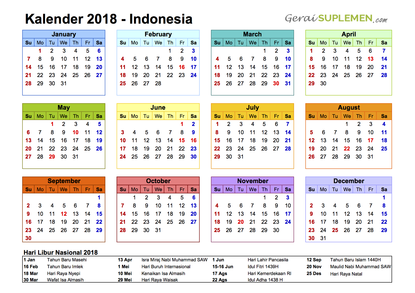 Unique 2018 Calendar Indonesia Kalender Indonesia Pendidikan