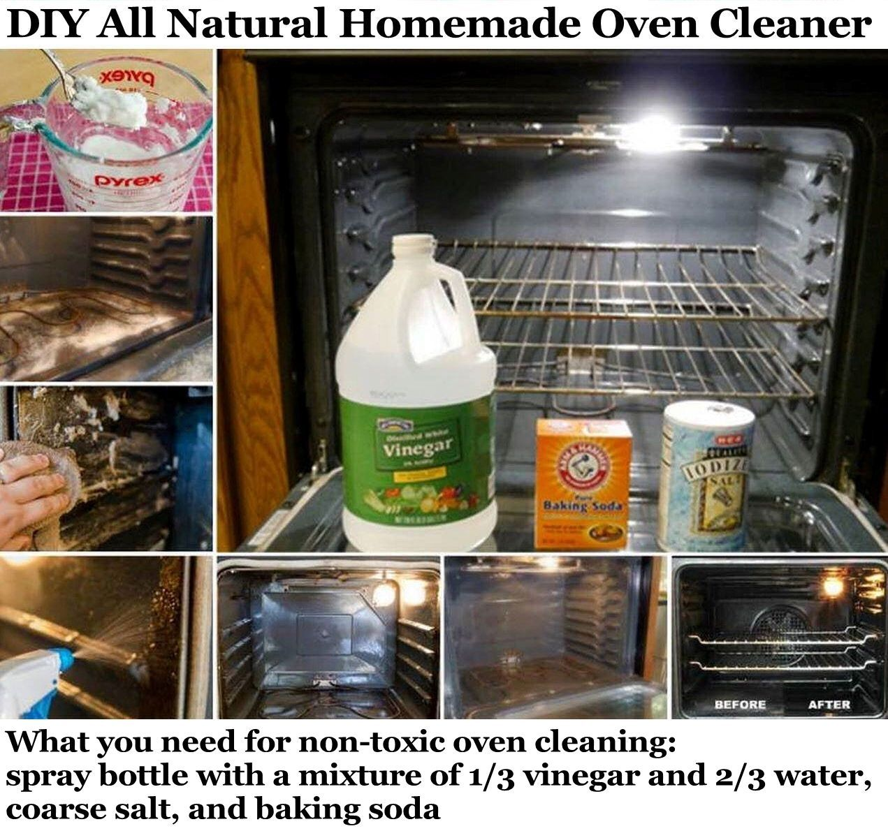 DIY All Natural Homemade Oven Cleaner home kitchen diy diy
