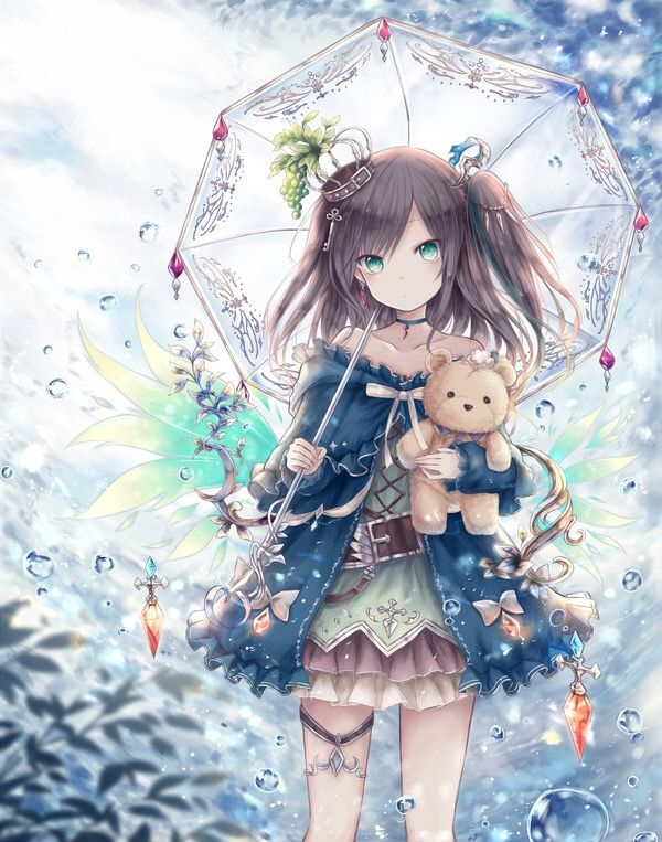 Fille Avec Ours En Peluche Manga Manga Dessin Manga Et Fille Manga