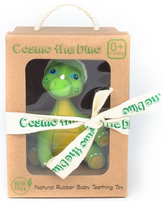 Amazon.com : Insane 4 Day Sale! Expires 4/18! Cosmo the Dino Baby Natural Teether Toy by Pijio with Free Downloadable Coloring Book- Best Amazon Baby Registry Gift - Developmental Teething Chew Toy : Baby