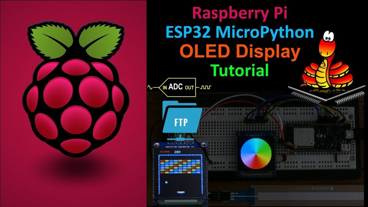 ESP32 MicroPython OLED Tutorial with ADC & FTP | arduino