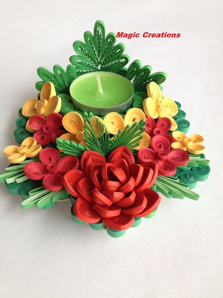 Image Result For Quilling Suport Lumanari Quilling Work Quilling Candle Holder Origami And Quilling