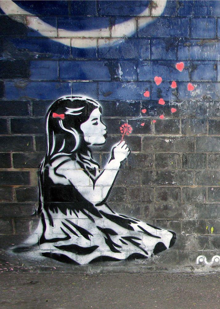 Banksy Graffiti Dandelion Hearts 16×20 double thick matte paper print    eBay