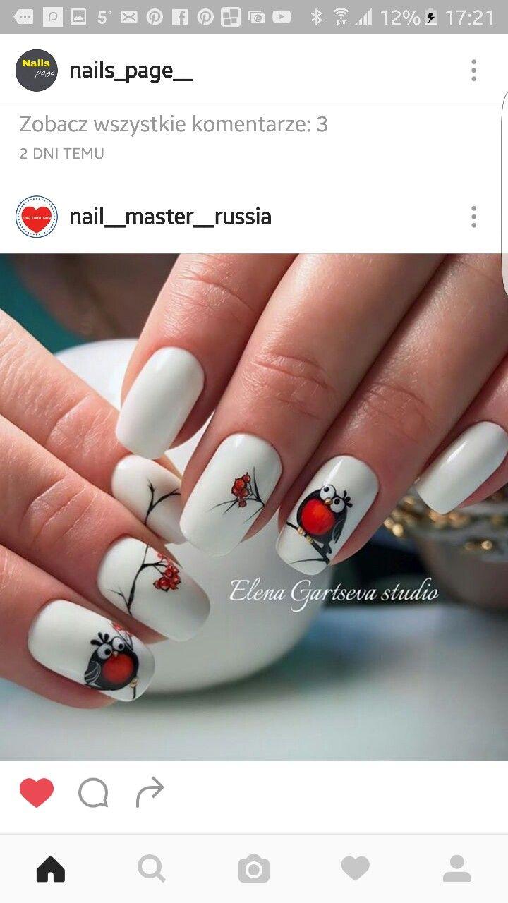 Pin by justyna magdalena on Winter nails | Pinterest | Xmas nails ...