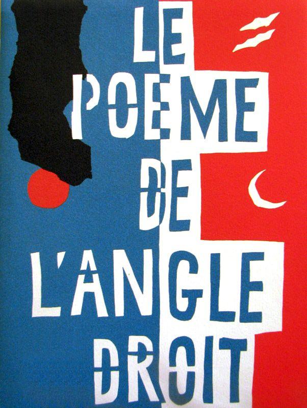 Poème De Langle Droit Cover Artist Le Corbusier Author