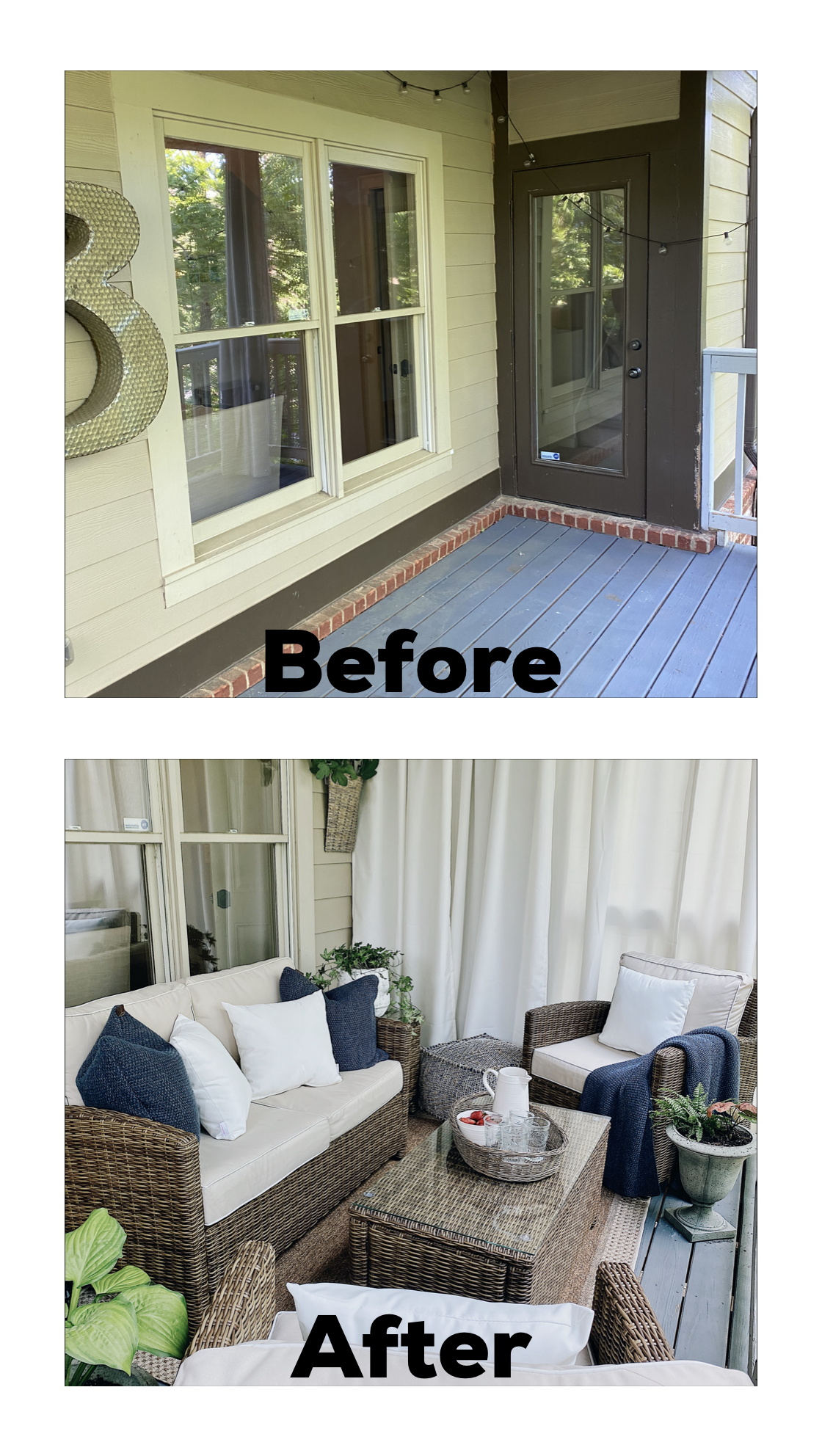 Lovely outdoor space for summer including Before and After!
