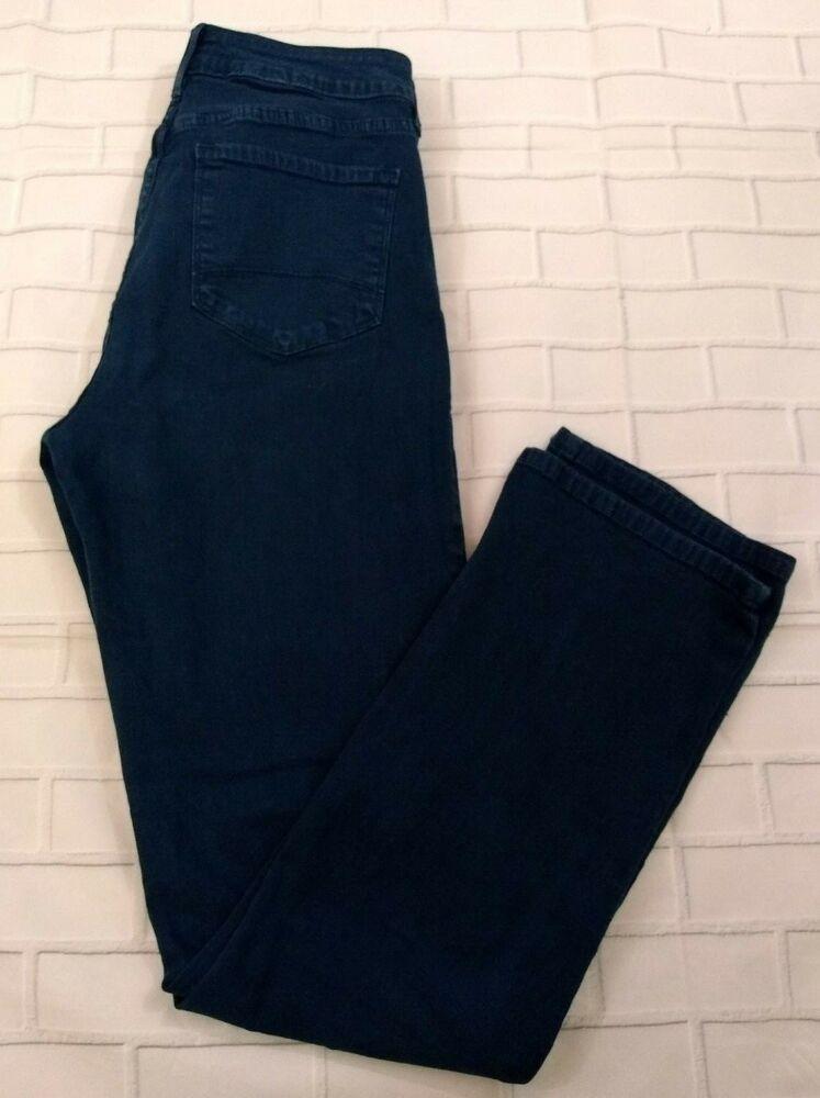 66f144f01f55ef NYDJ Straight Leg Size 10 Turquoise Blue Tummy Tuck Technology Womens #NYDJ