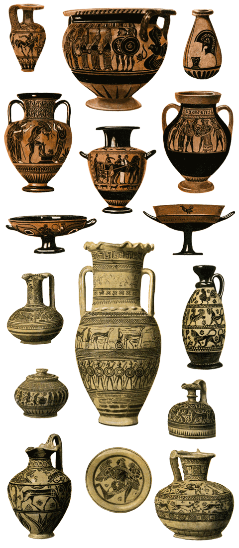 A Selection Of Ancient Greek Pots Greece Pinterest Ancient