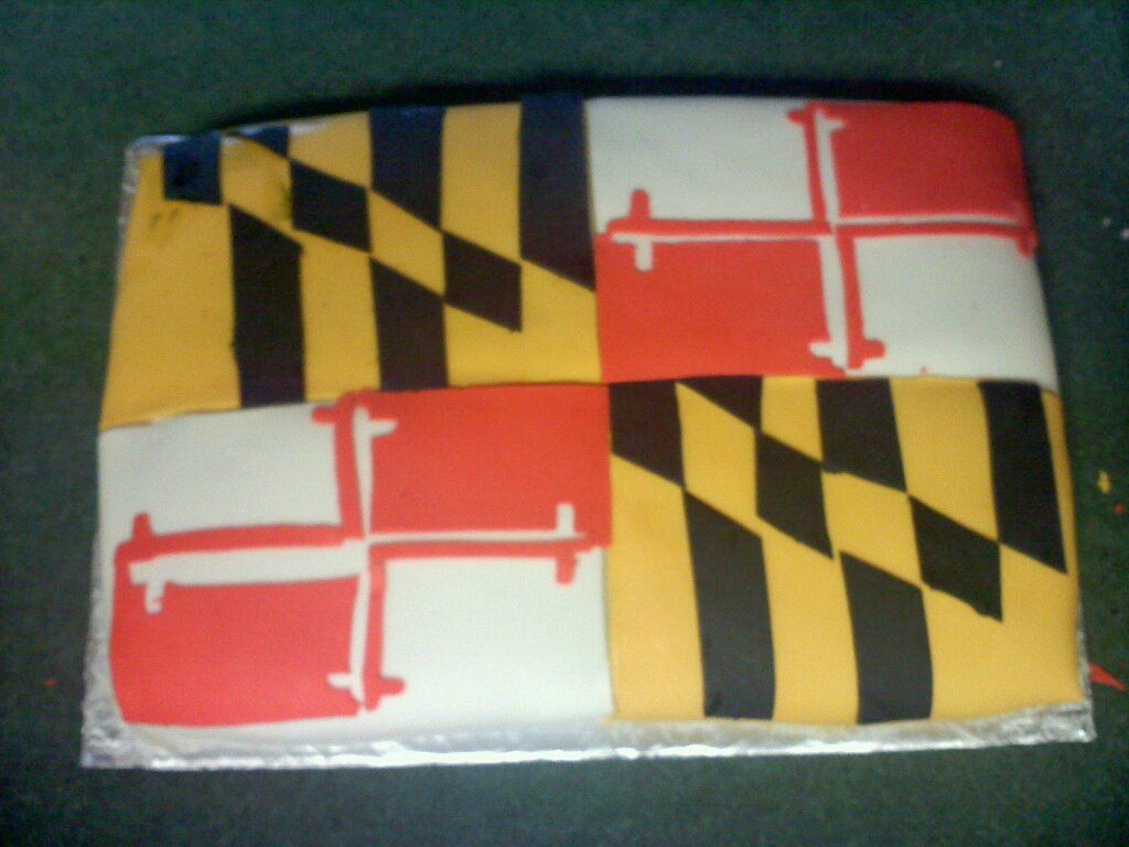 Maryland Flag cake for Marylands 378th Birthday 03252012