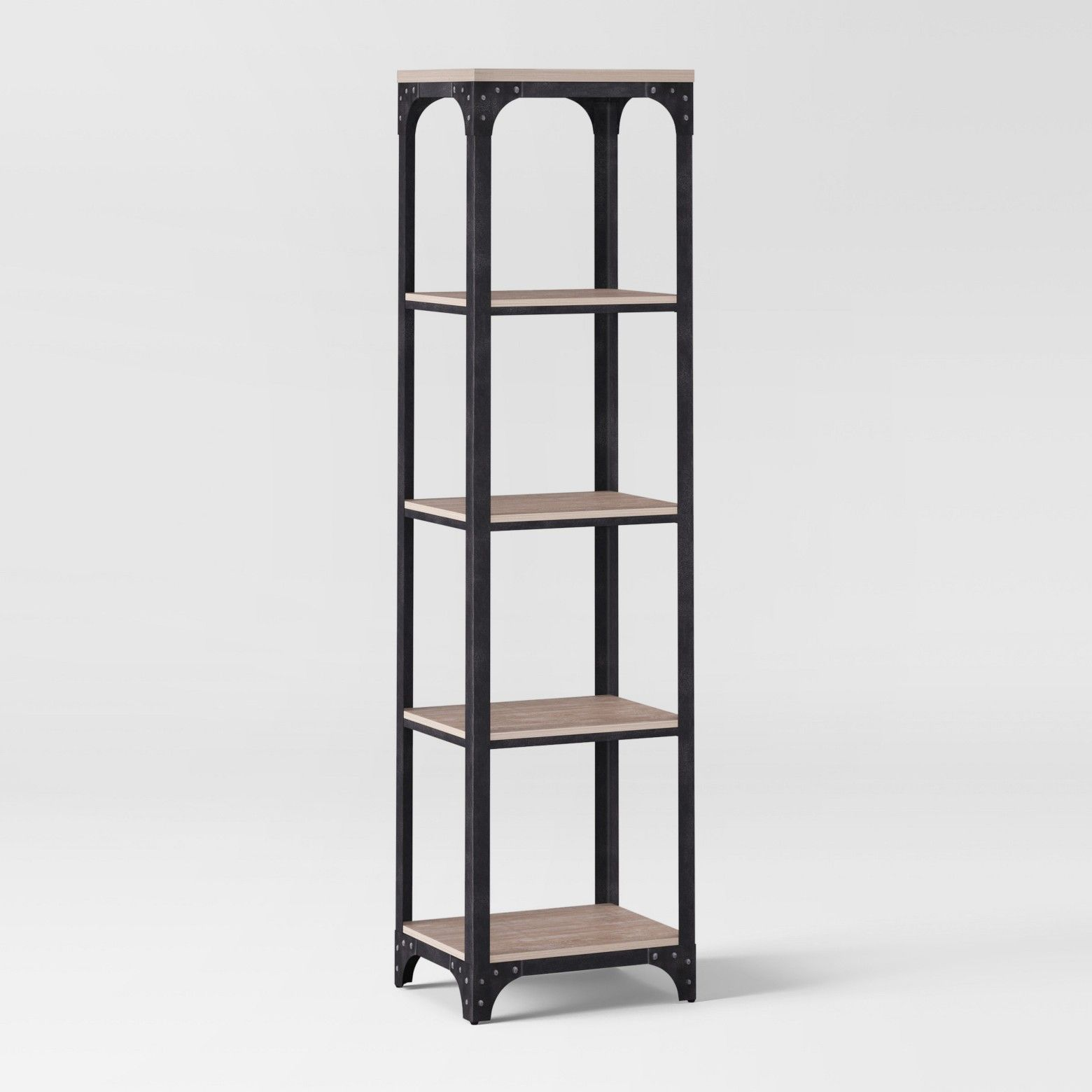 72 Franklin 5 Shelf Narrow Bookshelf Gray Threshold Narrow Bookshelf Metal Bookshelf Bookshelves