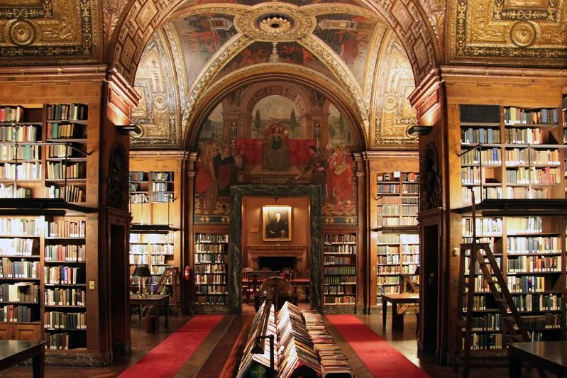 """University Club Library – New York City, United States from """"Most Beautiful and Famous Libraries in the World"""" by Monika"""