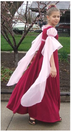 Red Wysteria dress