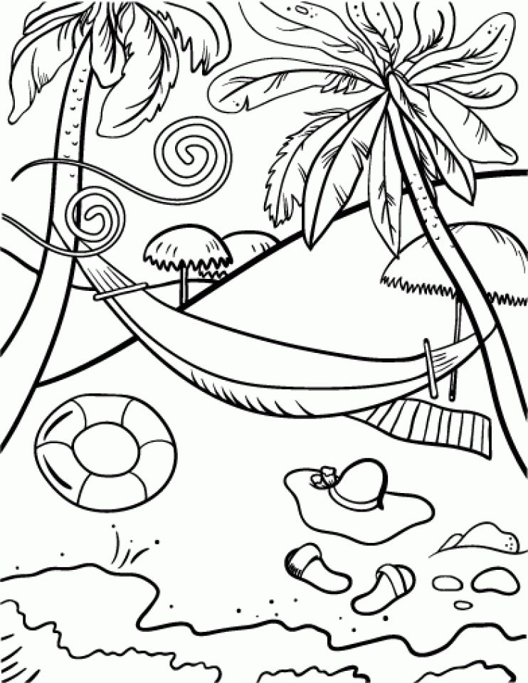 Beach Coloring Pages Beach Coloring Pages Coloring Pages Cool