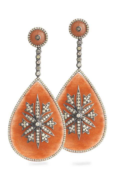 Jade and diamond earrings.