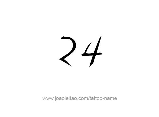 Twenty Four,24 Number Tattoo Designs