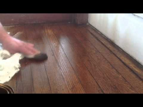 Painting And Gel Stain Wood Floors 2 Youtube Staining