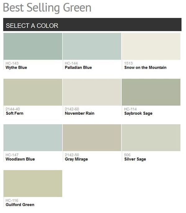Green Benjamin Moore Paint Colors Best