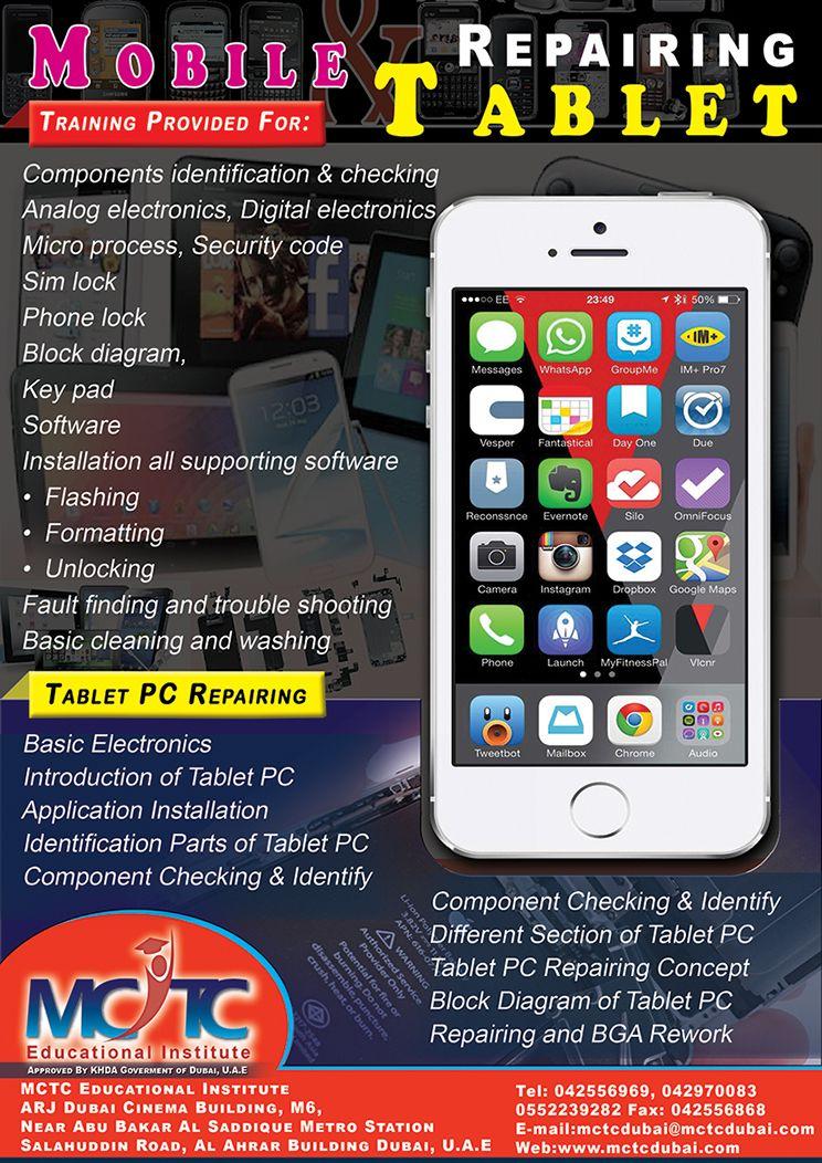 Mobile & Tablet Chiplevel Training Center in Dubai