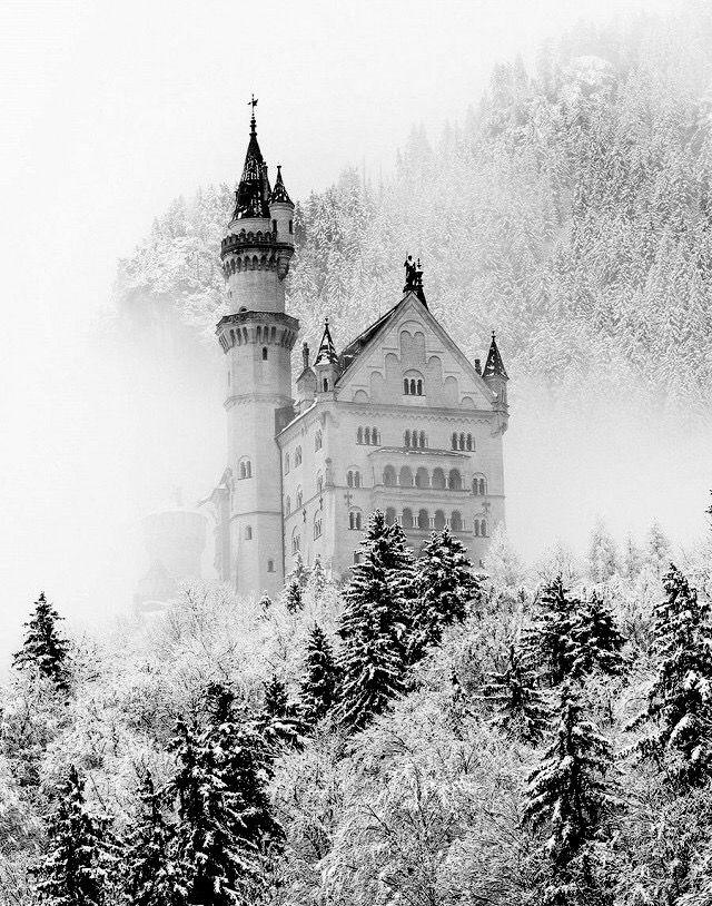 Winter Fortress Winter Szenen Schloss Neuschwanstein Bilder