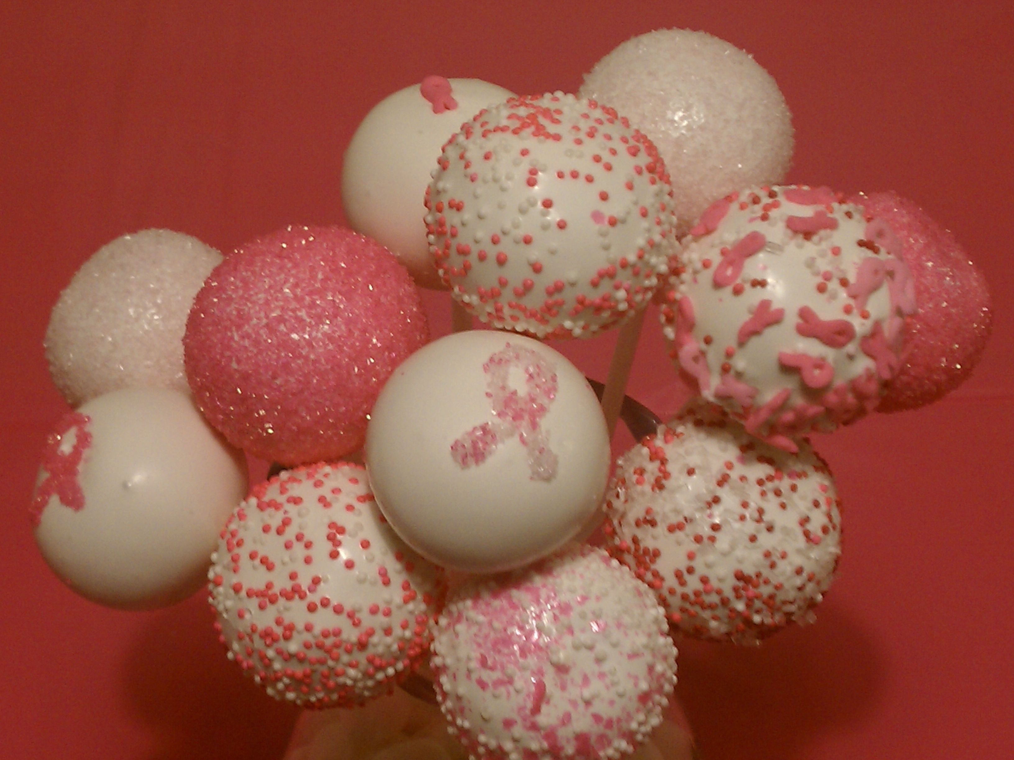 Breast Cancer Awareness Cake Pops