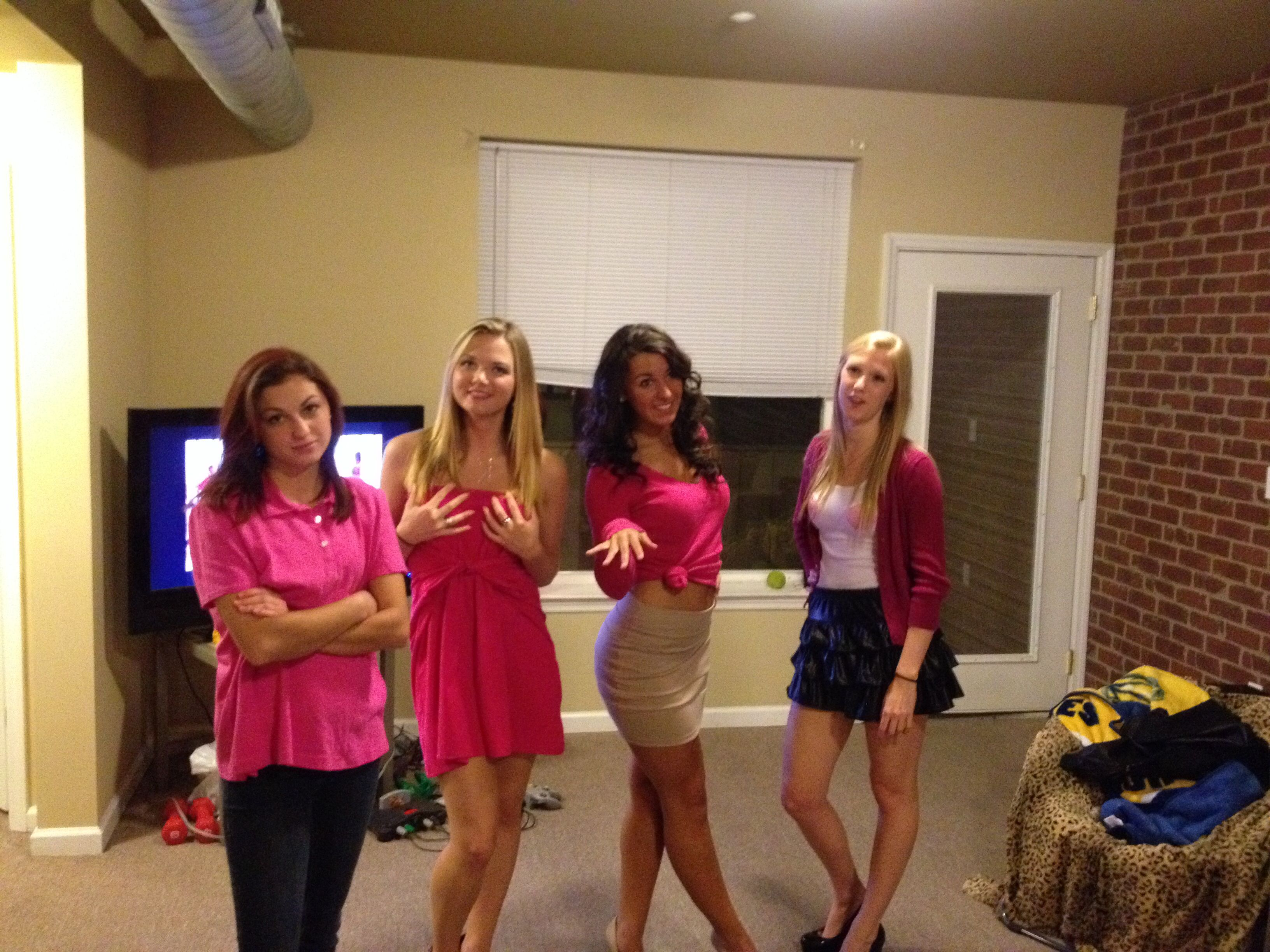 mean girls halloween costume - 4 Girls Halloween Costumes