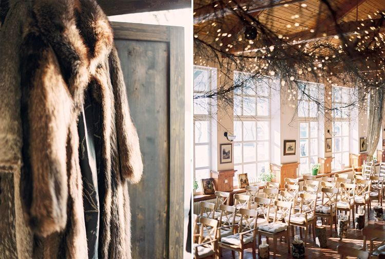 A Gorgeous Geadpiece & Lace sleeves for a Magical Narnia wedding theme | Fab mood #winterwedding #wintertale