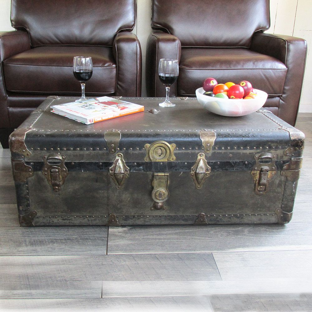 1920s Steamer Trunk Perfect Coffee Table Size By Leapinglemming On Etsy
