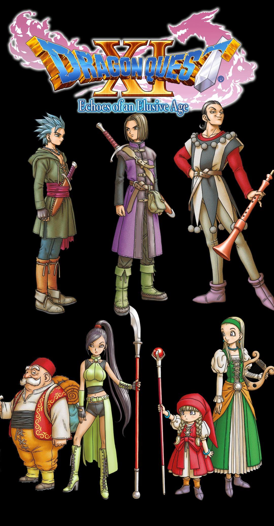 Dq Xi Phone Wallpaper Dragon Quest Anime Guys Dragon