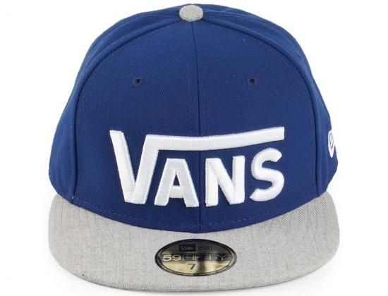 Drop V Blue-Heather 59Fifty Fitted Baseball Cap by VANS x NEW ERA ... de3072f86a