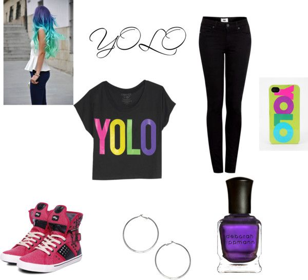"""YOLO"" by victoriaalexander on Polyvore"