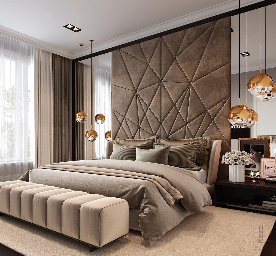 Heia Schlafzimmer Dekor Kopfteil Kopfteil Entwurf Innenarchitekt Materialien Minimalistisch Luxury Bedroom Master Modern Luxury Bedroom Luxurious Bedrooms