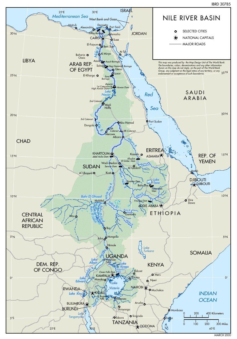 Rio Ganges Mapa Fisico.Mapa Da Bacia Do Nilo Mapas Rio Nilo Mapa Africa E Rio