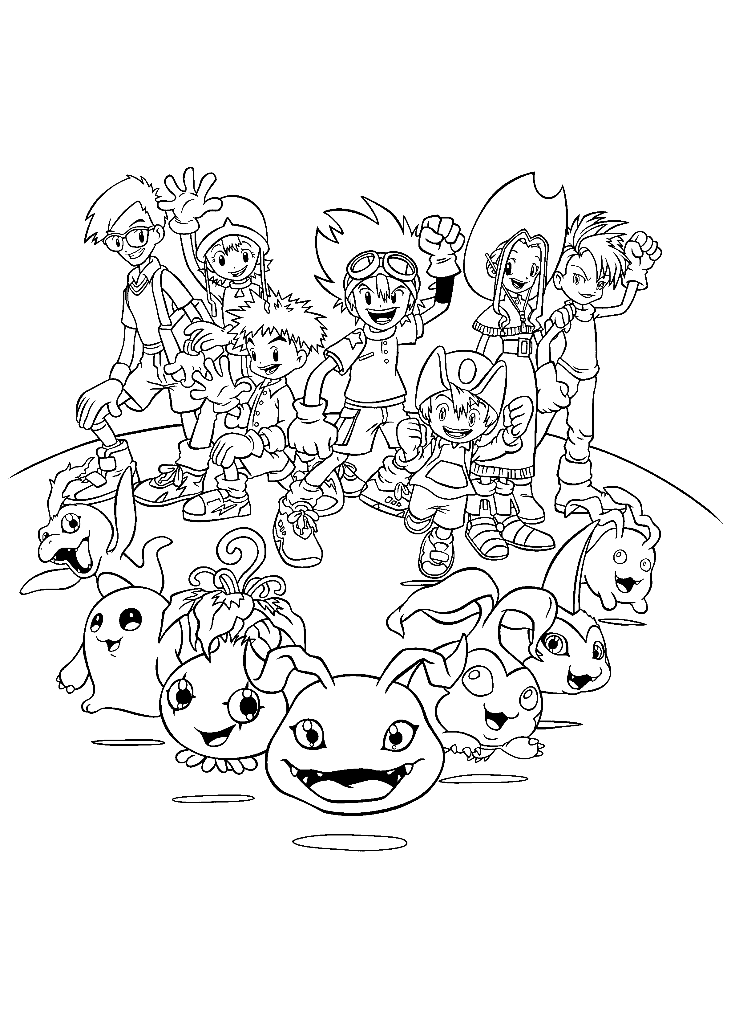 Coloring Page Digimon Coloring Pages 202 Digimon Free