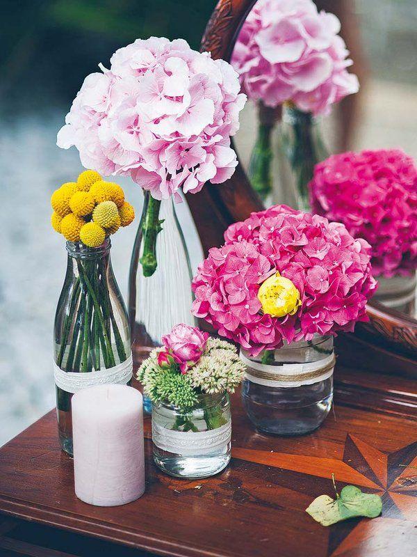 Jarrones improvisados para crear bonitos arreglos florales Flowers - Arreglos Florales Bonitos