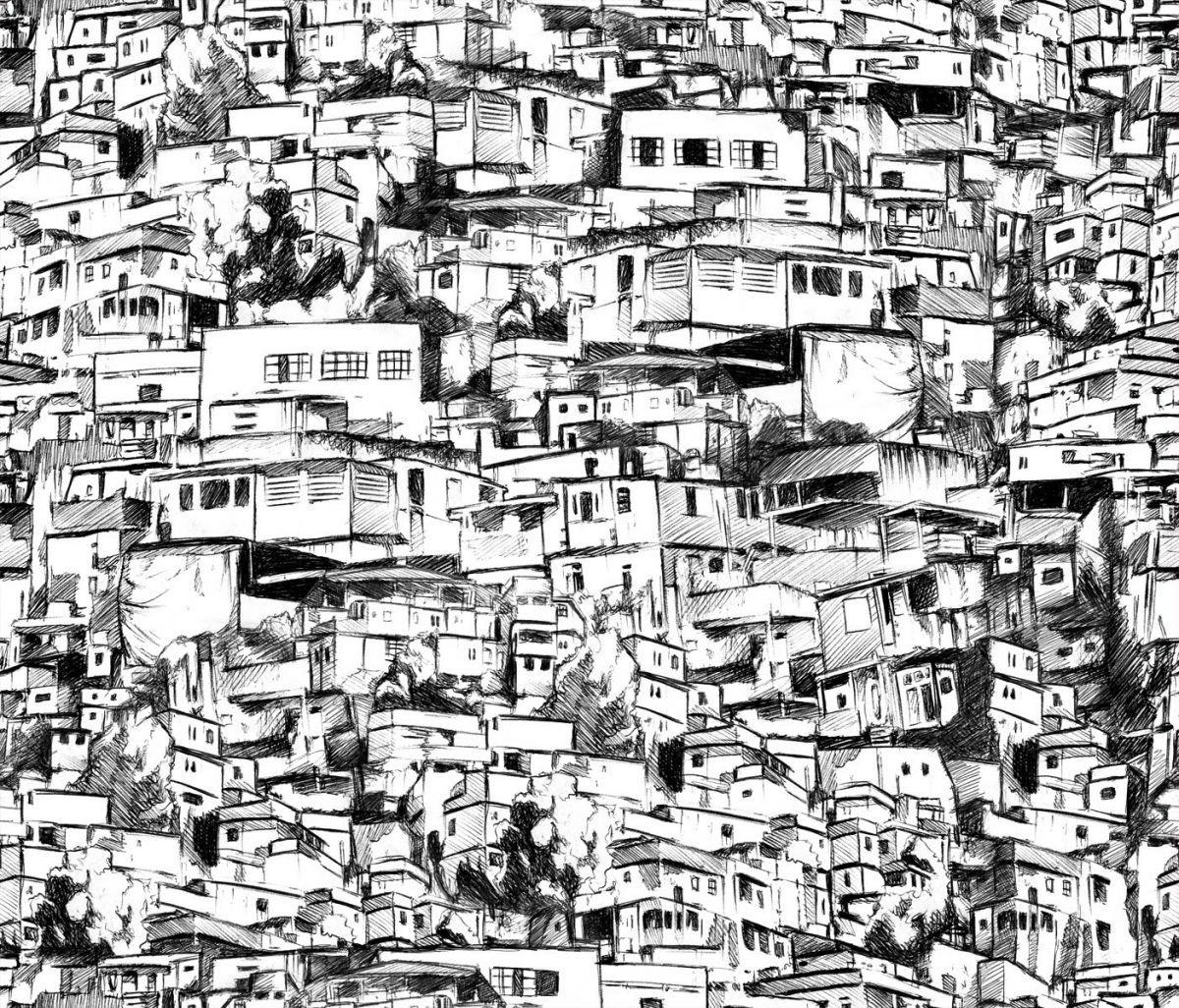Image result for desenho favela rj