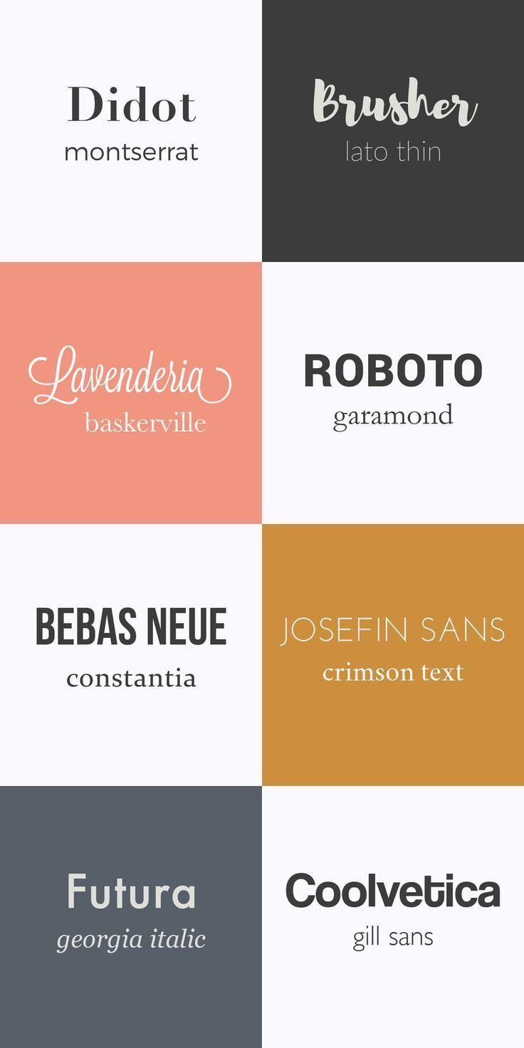 Fonts Pairings Design Typographique Typographie Lettering